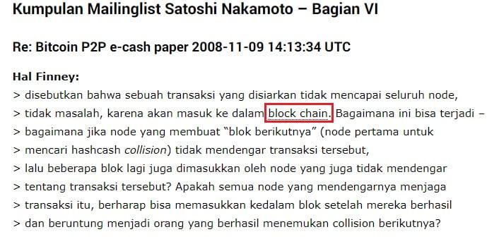 Blockchain disebutkan pertama kali oleh Hal Finney