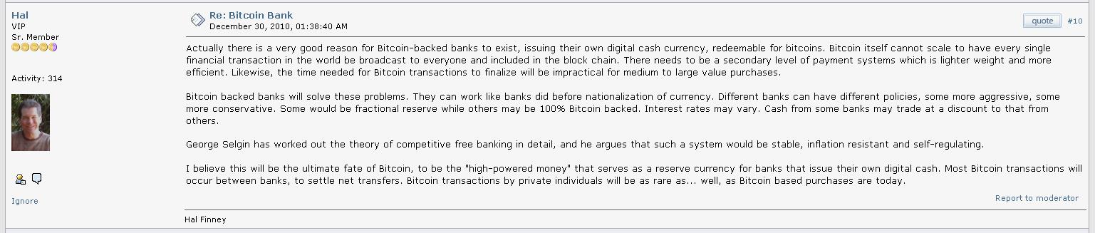 Hal Finney Tentang Bitcoin sebagai mata uang